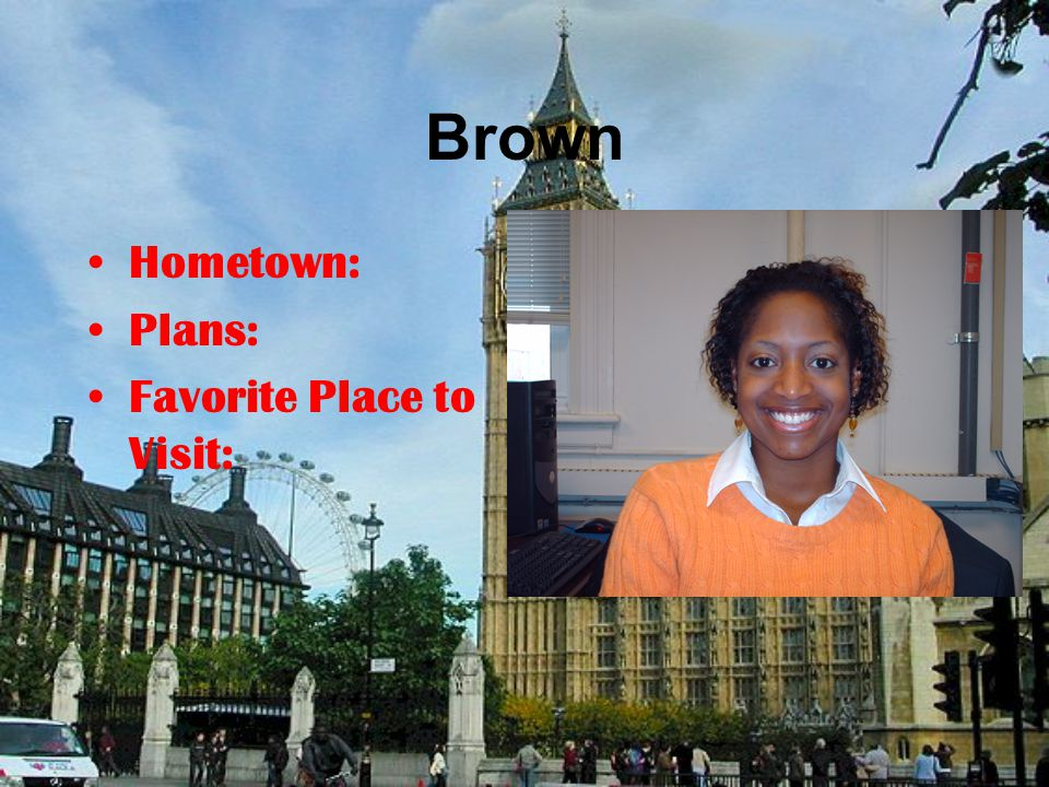 Anita Wilson IMC Hometown: Lancaster, SC Plans: Move to VA or NC and work in the marketing field Favorite Place to Visit: Virginia