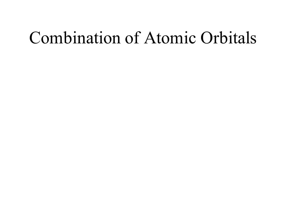 Molecular Orbital Theory When two atomic orbitals from different atoms combine constructively, the e density increases resulting in a molecular orbital with less energy than the two orbitals: bonding molecular orbital(electrons will tend to fill lower energy levels) If the two orbitals combine destructively, the electron density decreases and the molecular orbital will have higher energy: anti-bonding orbital*(electrons will stay at their orbitals)