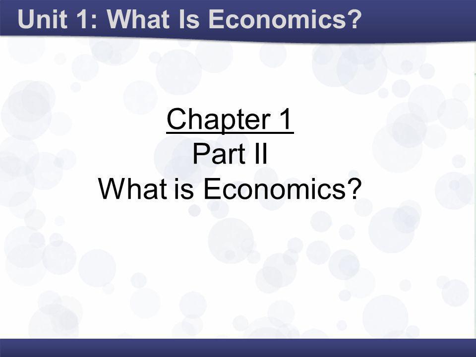 Microeconomics examines the individual components of the economy.
