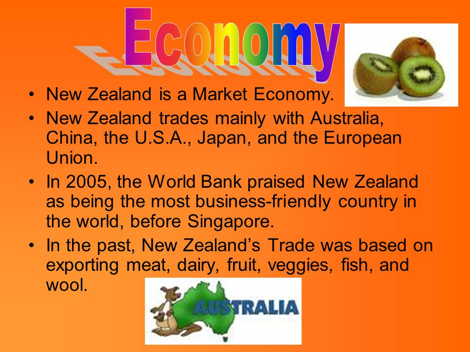 New Zealand is a Market Economy.
