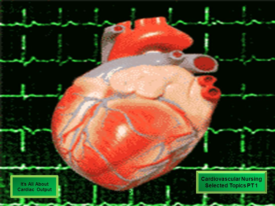 Cardiovascular Nursing Selected Topics PT 1 It's All About Cardiac Output Block 7.0 Module 2.2