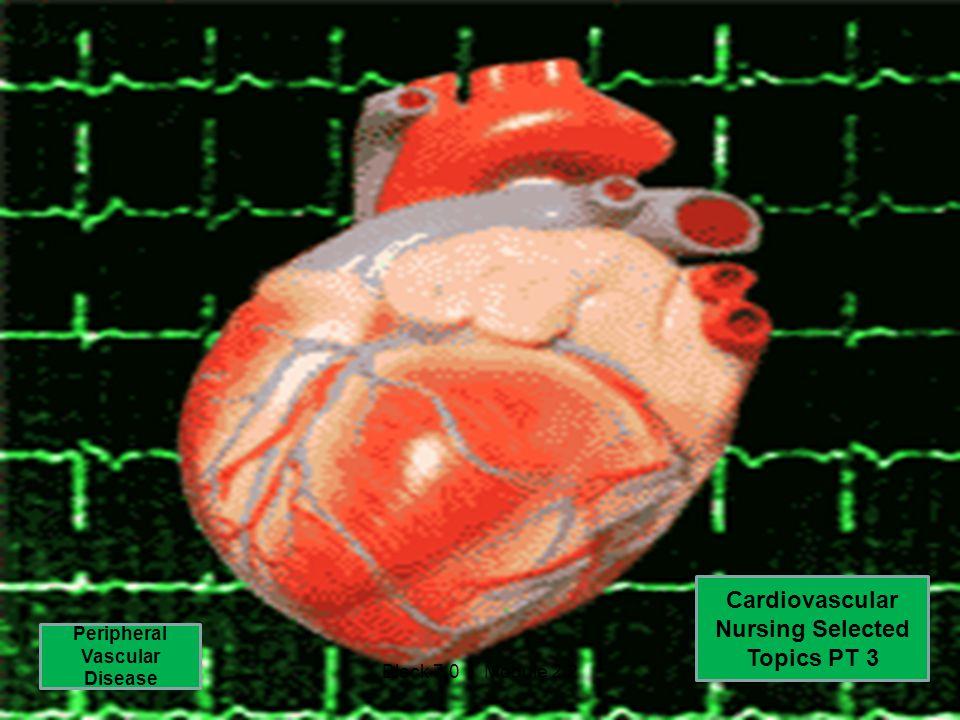 Cardiovascular Nursing Selected Topics PT 3 Peripheral Vascular Disease Block 7.0 Module 2.2