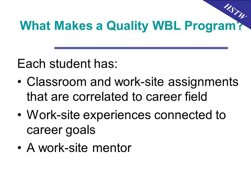 What Makes a Quality WBL Program.