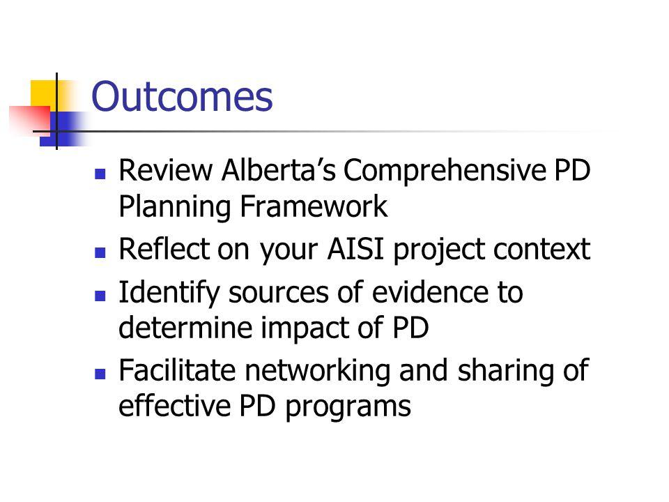 Support for Developing a Comprehensive PD Plan Alberta Regional Professional Development Consortia Alberta Teachers' Association, Professional Development