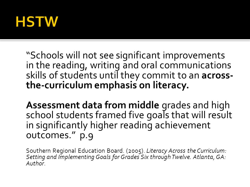 1.Read the equivalent of 25 books per year across the curriculum.