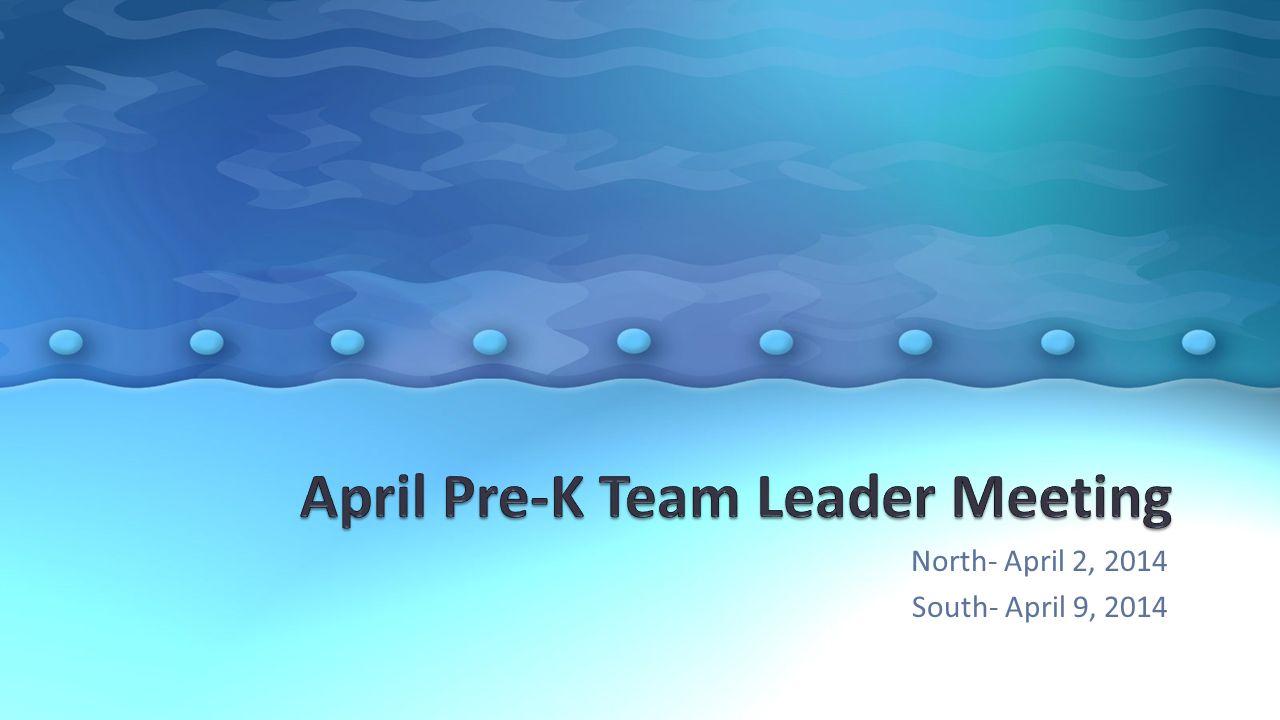 North- April 2, 2014 South- April 9, 2014