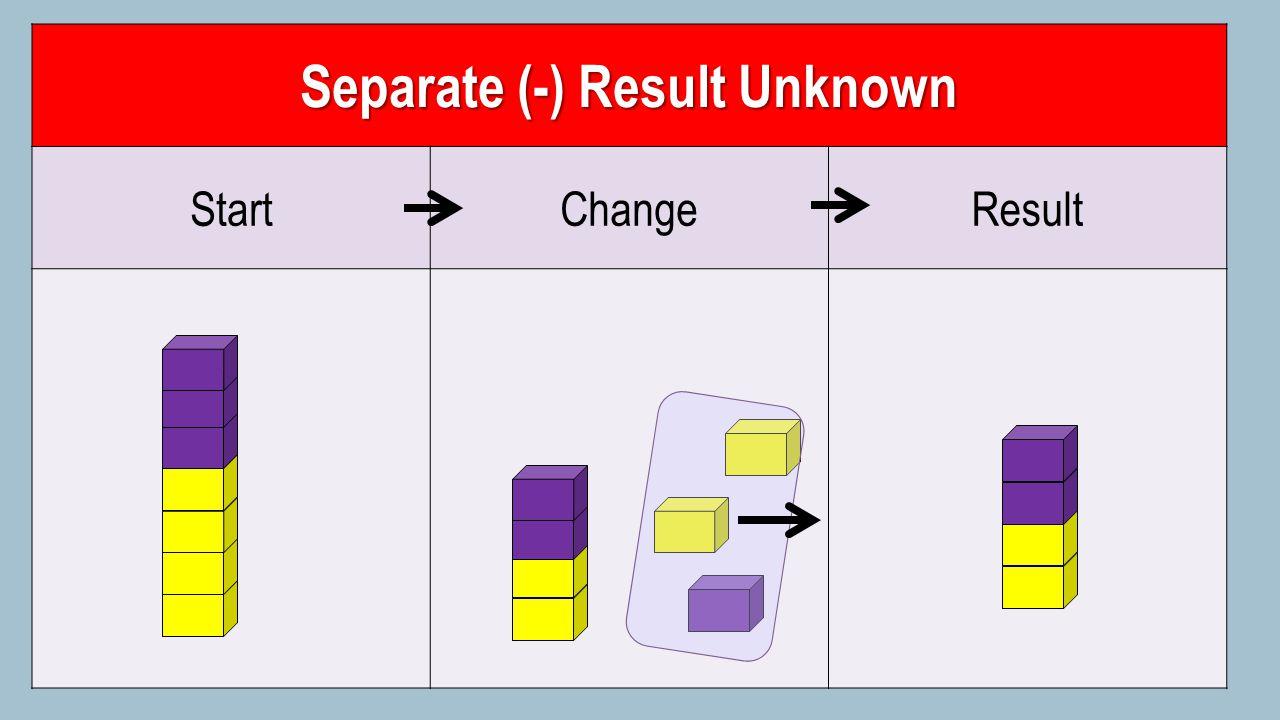 Separate (-) Result Unknown StartChangeResult