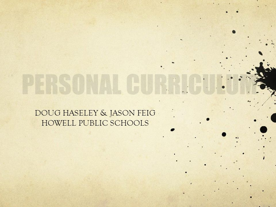 DOUG HASELEY & JASON FEIG HOWELL PUBLIC SCHOOLS