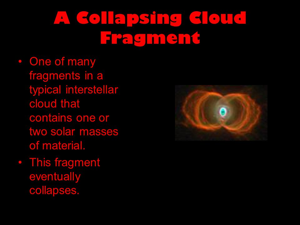 A Collapsing Cloud Fragment One of many fragments in a typical interstellar cloud that contains one or two solar masses of material.