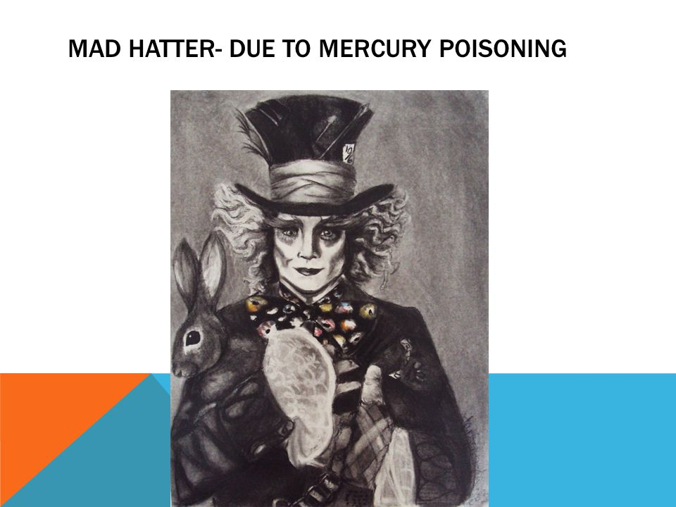 MAD HATTER- DUE TO MERCURY POISONING