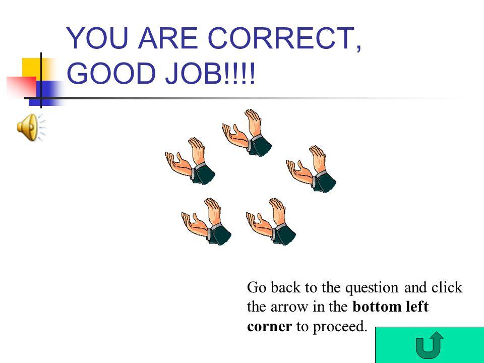 YOU ARE CORRECT, GOOD JOB!!!.