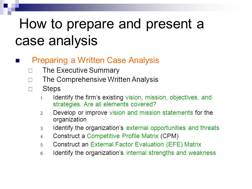 Evaluation of Case presentation 1.Mission Statement 2.