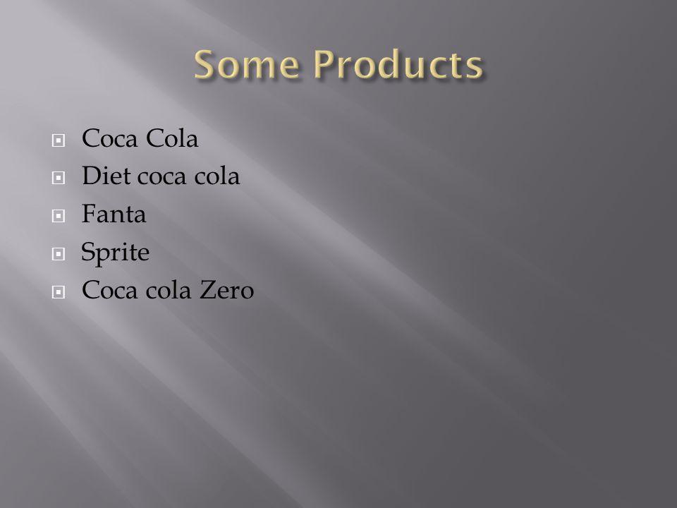  Coca Cola  Diet coca cola  Fanta  Sprite  Coca cola Zero