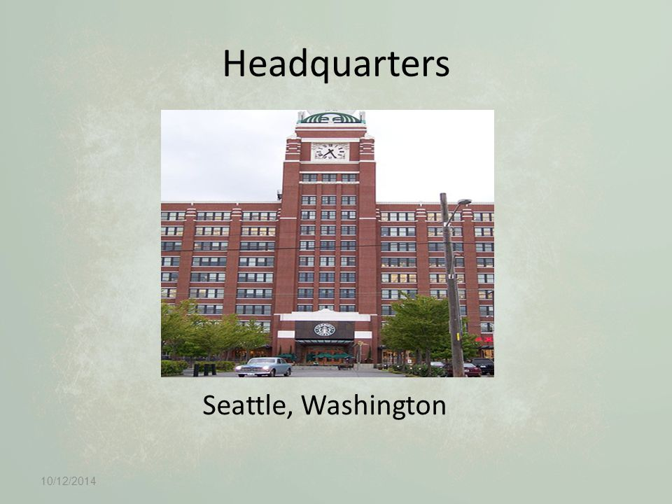 Headquarters Seattle, Washington 10/12/2014