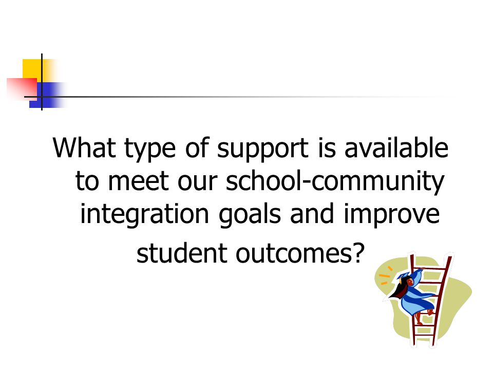 What type of support is available to meet our school-community integration goals and improve student outcomes