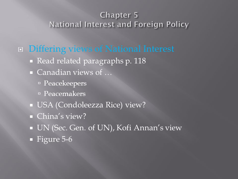  National Interest and Arctic Sovereignty  Read related paragraphs p.