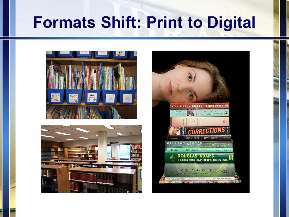 Formats Shift: Print to Digital