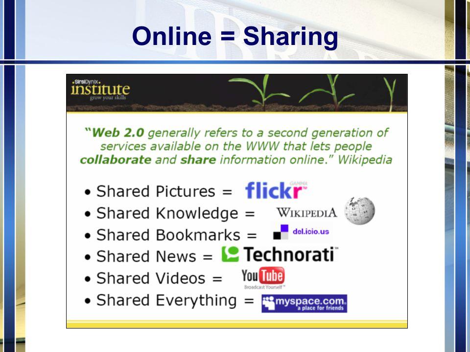 Online = Sharing