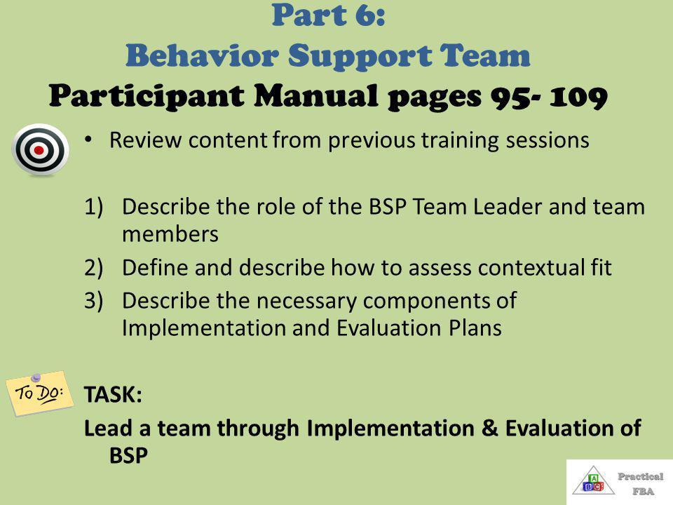 13 Summarizing the Competing Behavior Pathway 1.