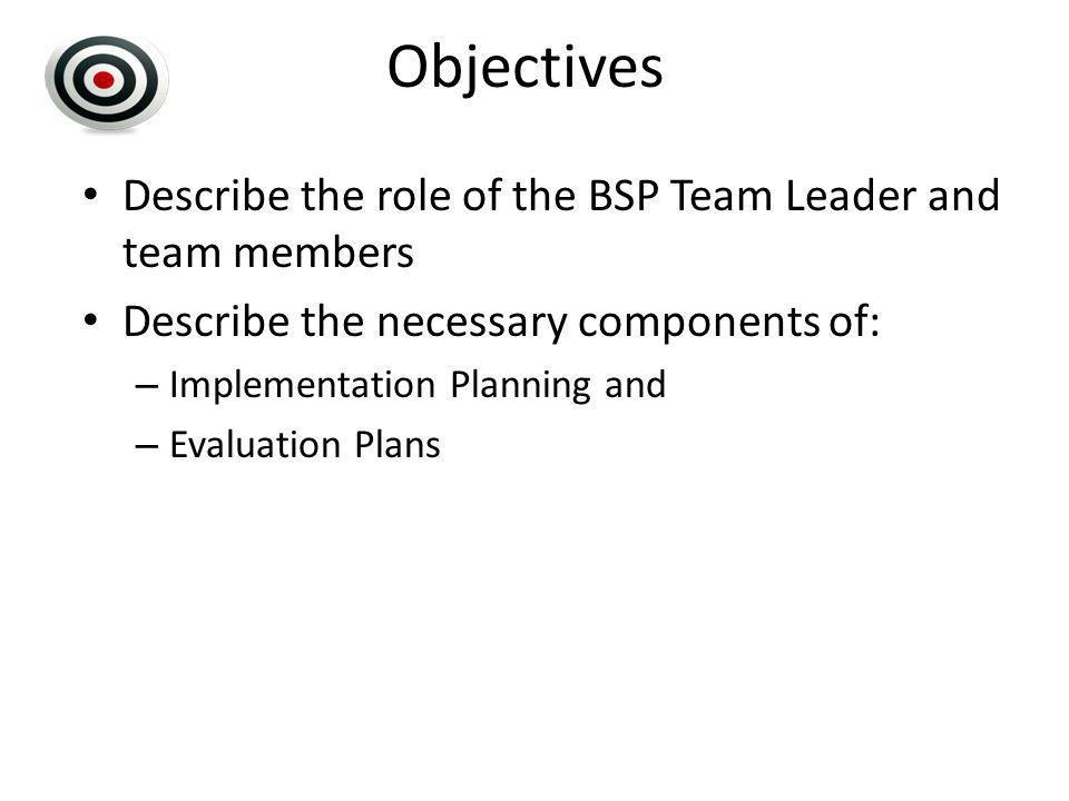 BSP Team & Implementation Planning 8