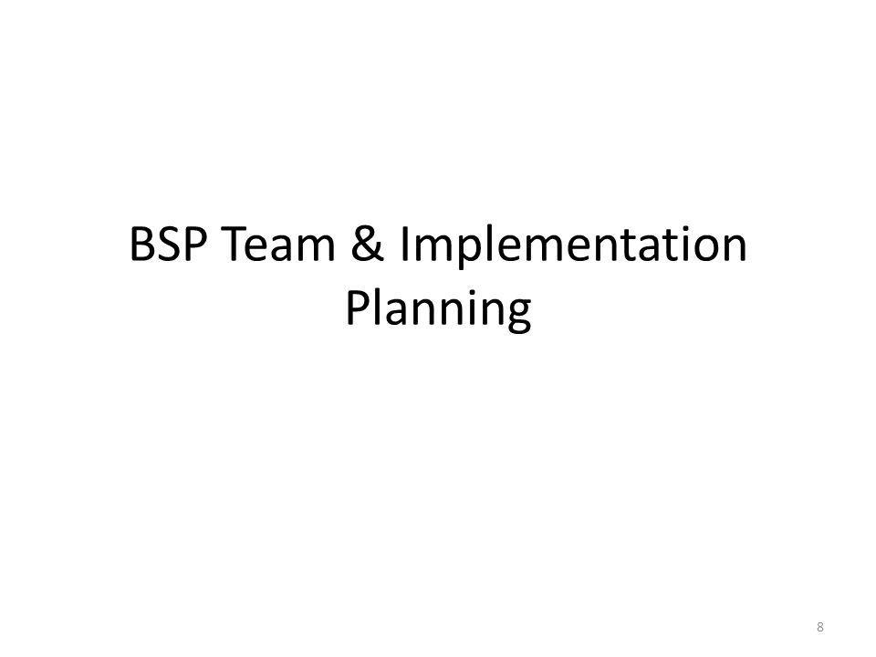 Finalizing the Implementation Plan 19 What Who When