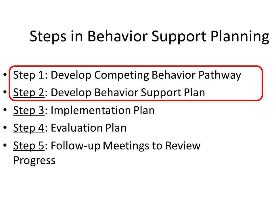 M.K. Strickland-Cohen (2011) ECS, University of Oregon Meeting to Review the Plan