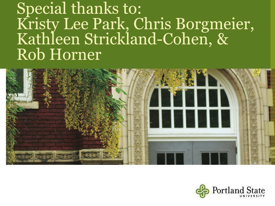 Special thanks to: Kristy Lee Park, Chris Borgmeier, Kathleen Strickland-Cohen, & Rob Horner