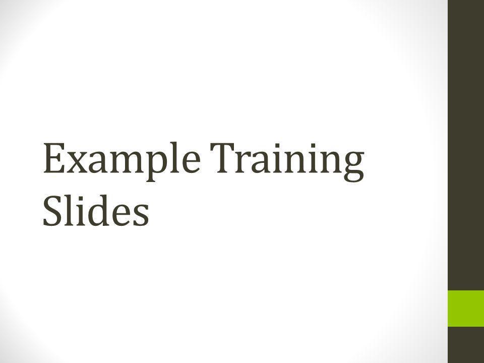 Example Training Slides