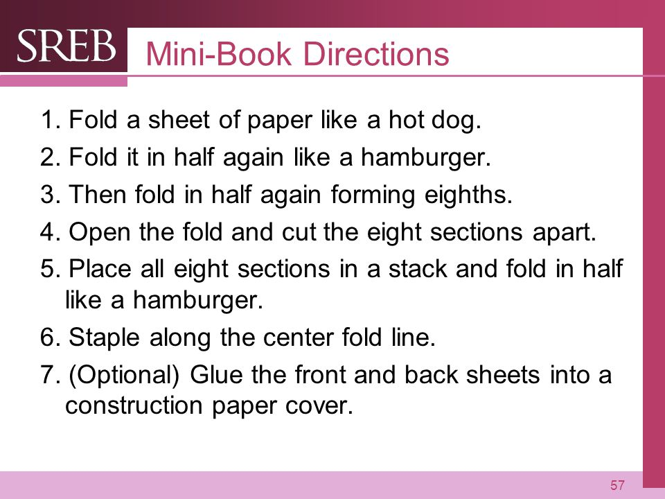 Company LOGO Mini-Book Directions 1.Fold a sheet of paper like a hot dog.