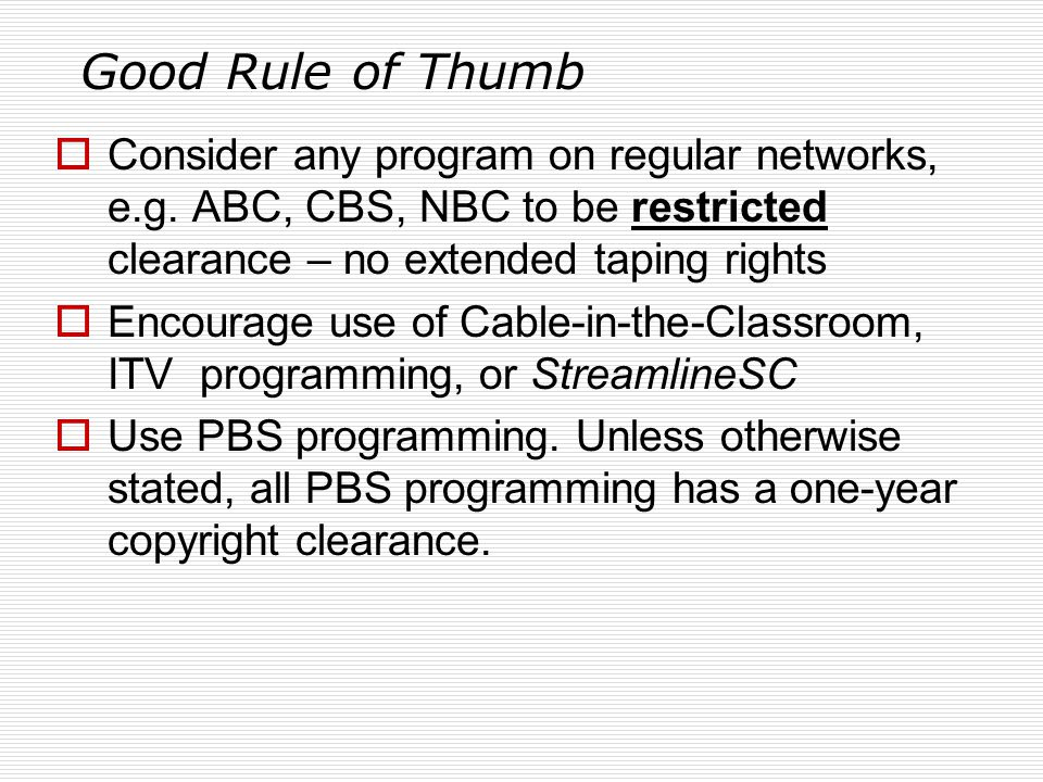 Good Rule of Thumb  Consider any program on regular networks, e.g.