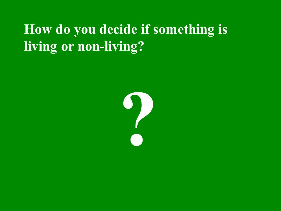 How do you decide if something is living or non-living? ?