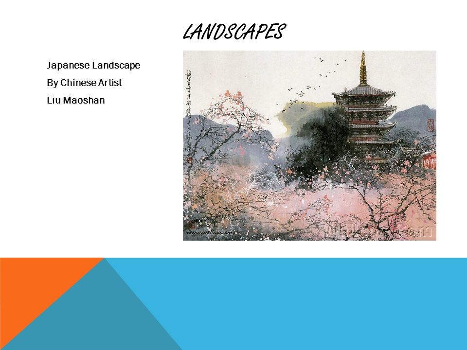 LANDSCAPES Japanese Landscape By Chinese Artist Liu Maoshan