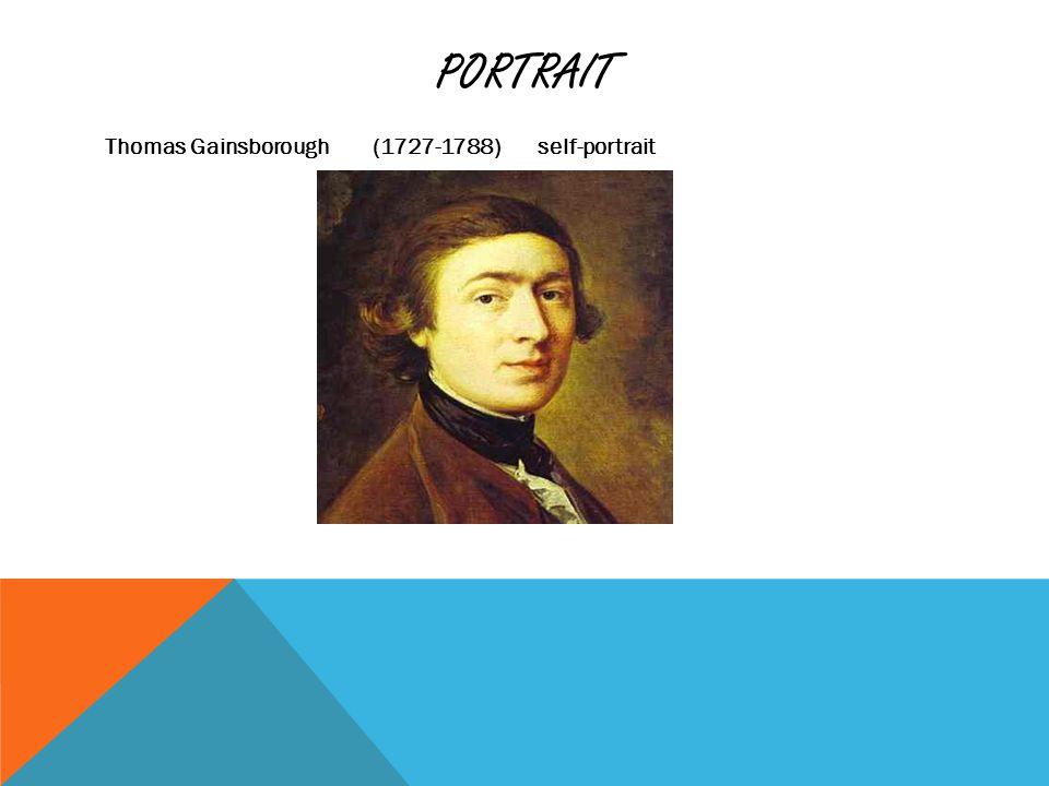 PORTRAIT Thomas Gainsborough (1727-1788) self-portrait