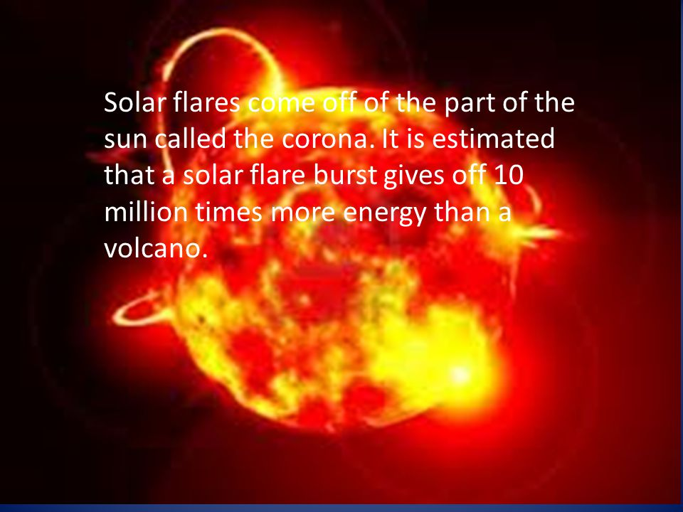 The way a solar flare affects electrical currents can be compared to a wave.