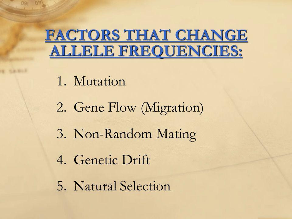 1.Mutation Randomly introduces new alleles into pop'n.
