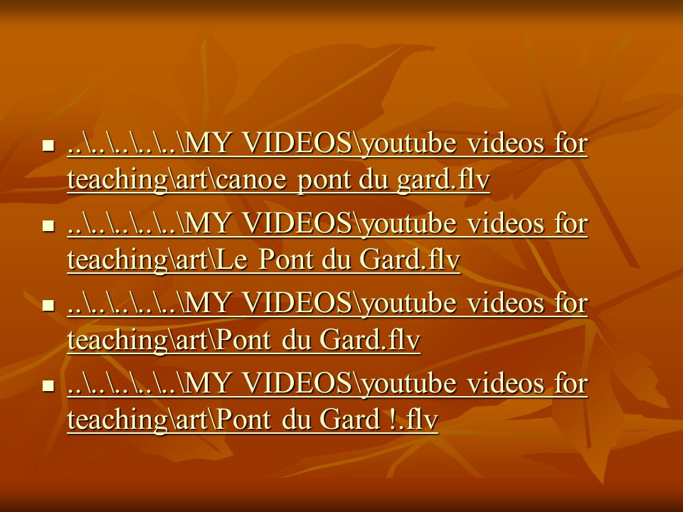 ..\..\..\..\..\MY VIDEOS\youtube videos for teaching\art\canoe pont du gard.flv..\..\..\..\..\MY VIDEOS\youtube videos for teaching\art\canoe pont du
