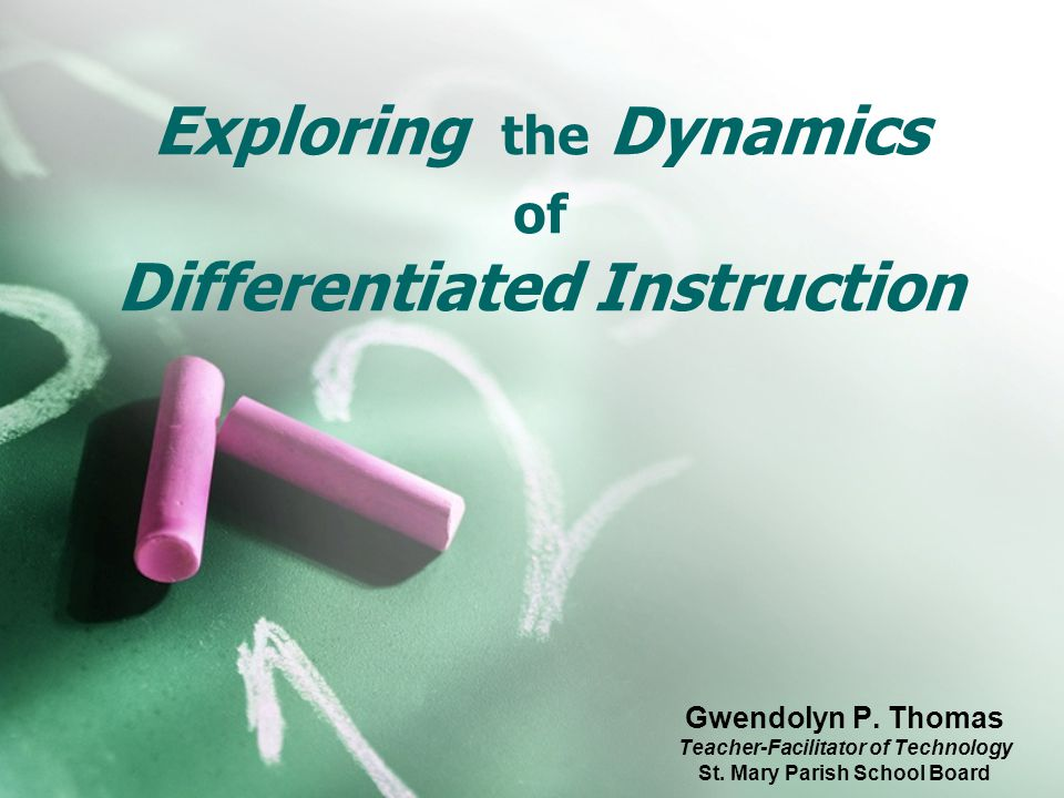 Exploring the Dynamics of Differentiated Instruction Gwendolyn P.