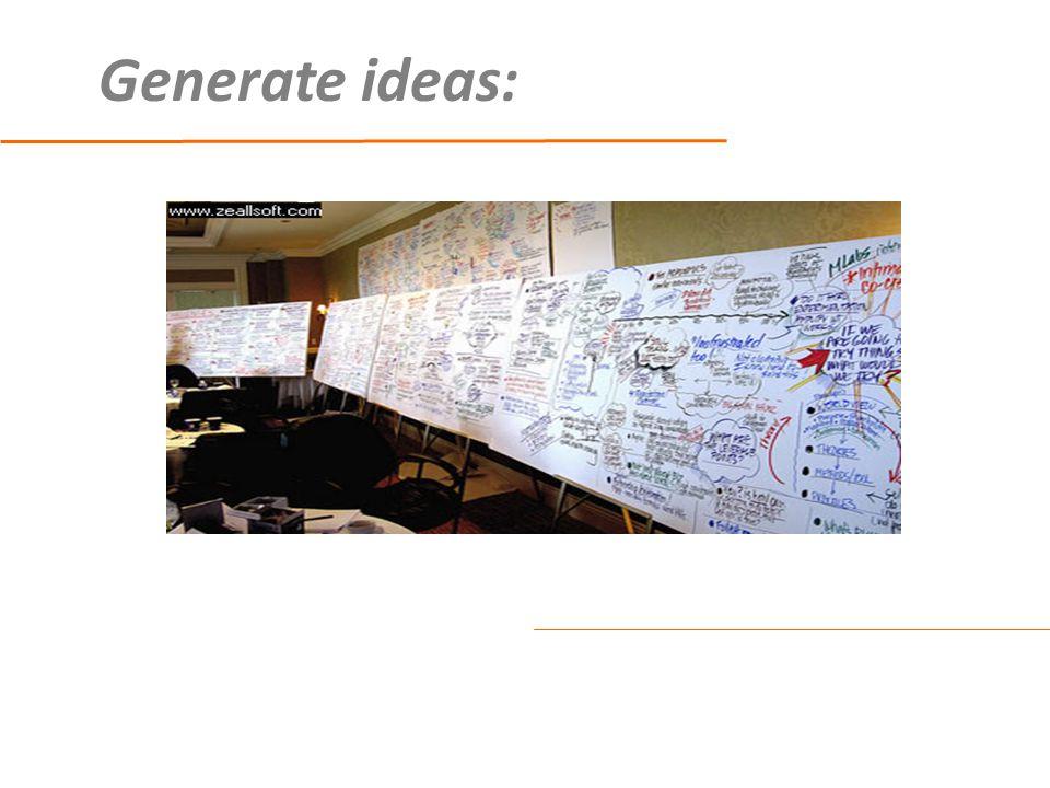Generate ideas: