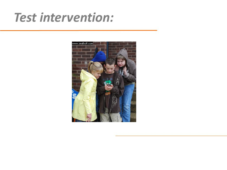 Test intervention: