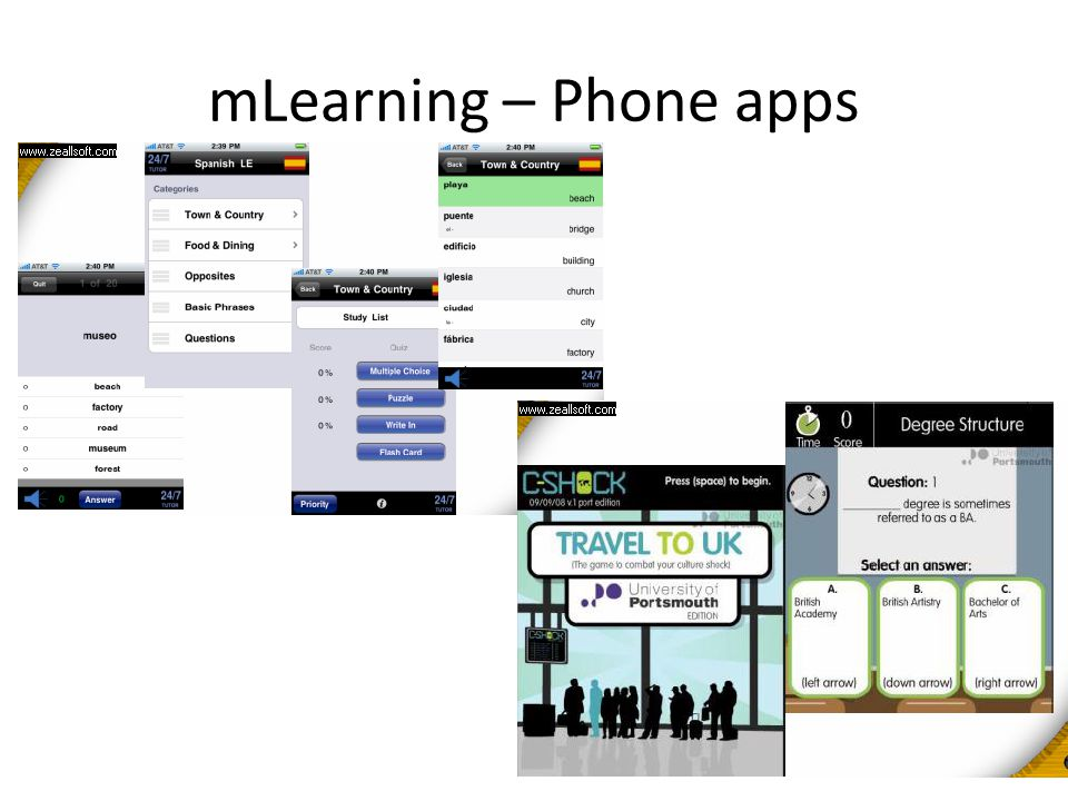 mLearning – Phone apps