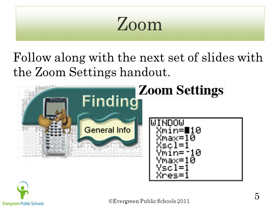 5 Follow along with the next set of slides with the Zoom Settings handout. Zoom