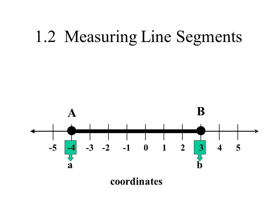 1.2 Measuring Line Segments 0-2-3-4-523451 A B coordinates ab