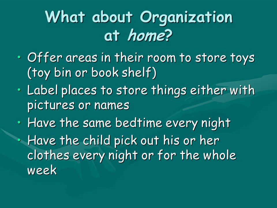 What about Organization at home.