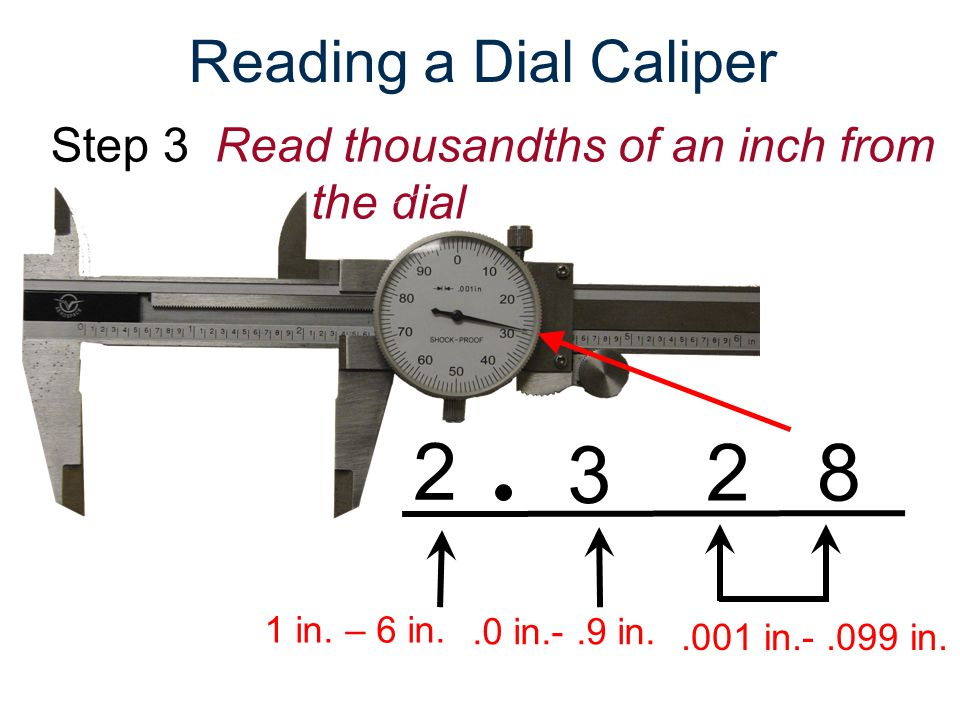 Dial Calipers Measure Thickness or Outside Diameter