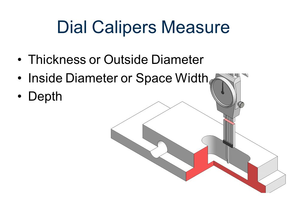 Dial Calipers Measure Thickness or Outside Diameter Inside Diameter or Space Width Depth Step Distance