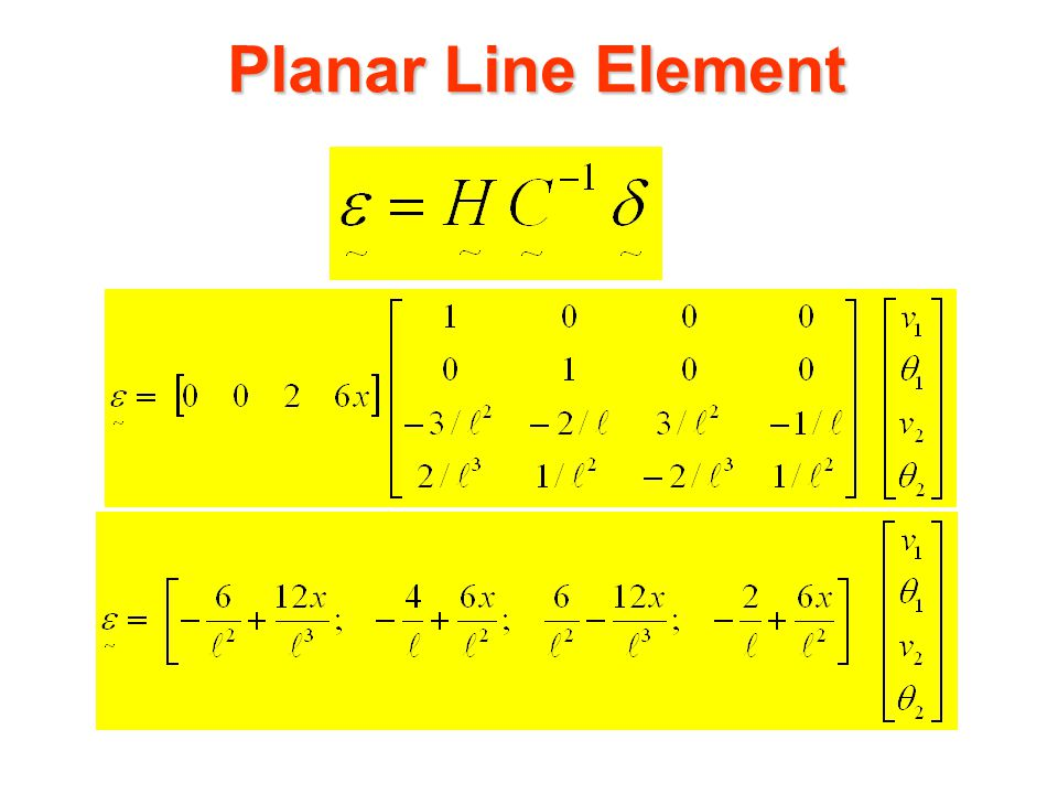 Planar Line Element State of Strain: The state of strain for the line element can be represented by how curved it is, ie:
