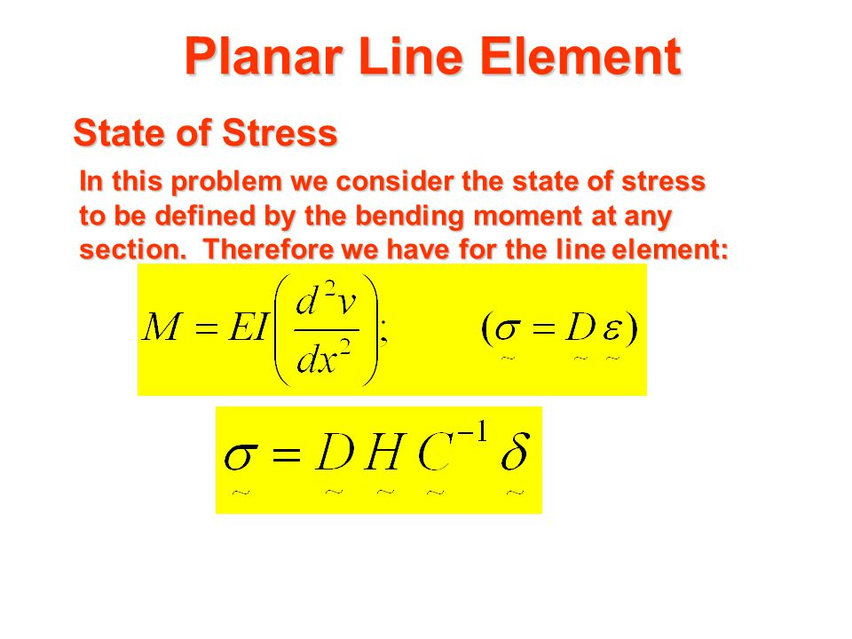 Planar Line Element