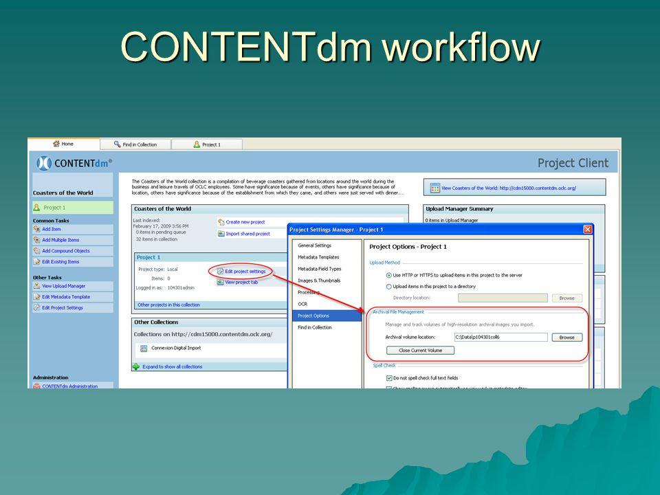 CONTENTdm workflow