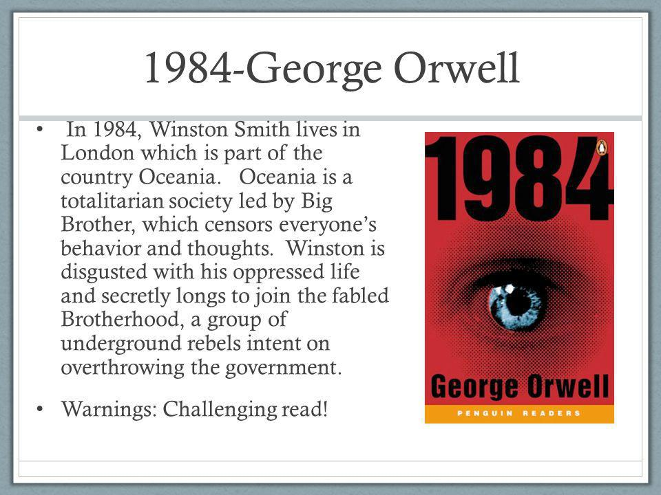 an analysis of totalitarianism in 1984 by george orwell Period 2 totalitarianism according to dictionarycom, totalitarianism is defined as absolute control by the state or a governing branch of a highly centralized institution totalitarianism in 1984 in george orwell's 1984, winston, as well as all of oceania, is under the continued tyranny of the party.