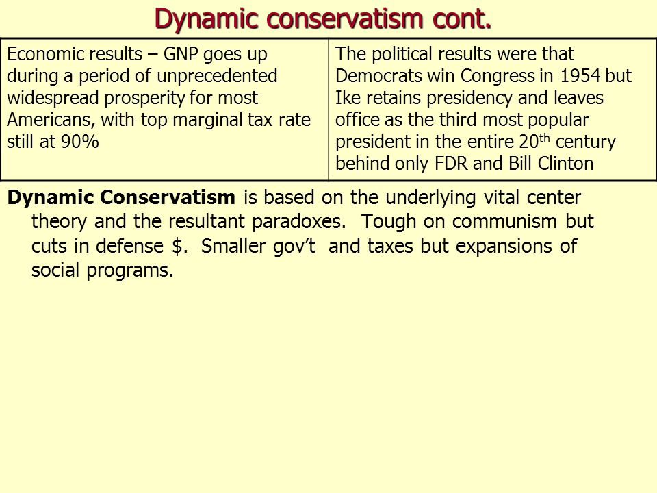 Dynamic conservatism cont.